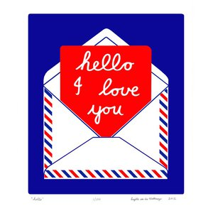 Hello - Unframed for Worldwide Delivery by Lu West