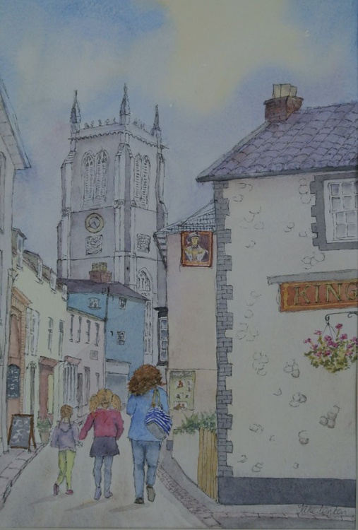 Cromer High Street, Norfolk - Original Pen & Wash - Image 0