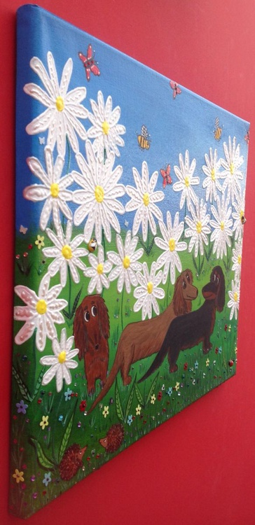 Dachshounds & Daisies - Image 0