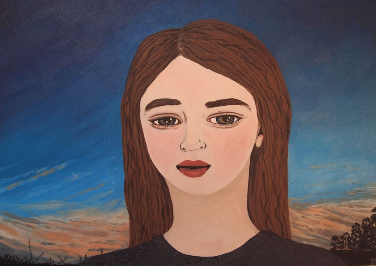 Portrait with Evening Sky - Image 0