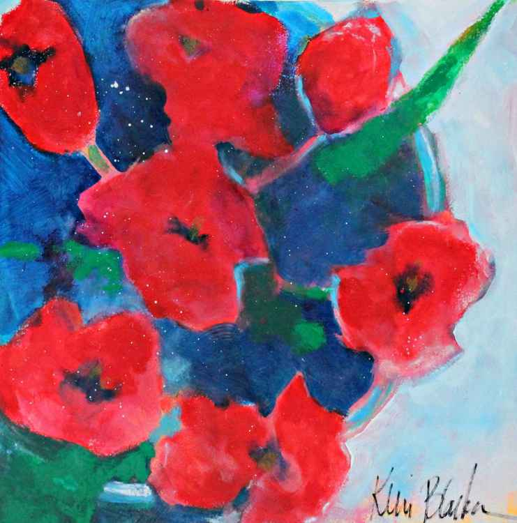Bowl of Red Poppies -