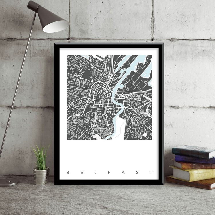 Belfast Map Art Limited Edition Print - Image 0