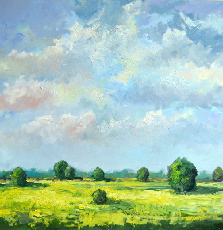 Summer in the polder Beveland oil on canvas - Image 0
