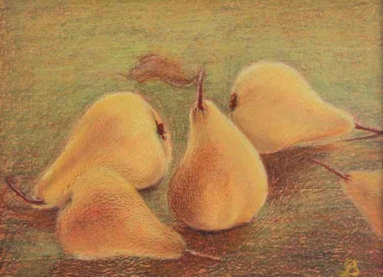 Yellow pears -