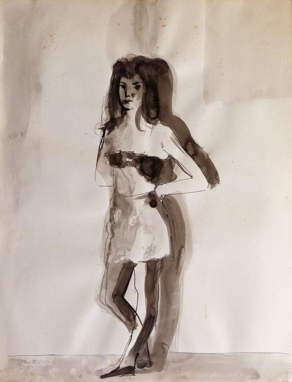Irene, ink on paper 65x50 cm - Image 0