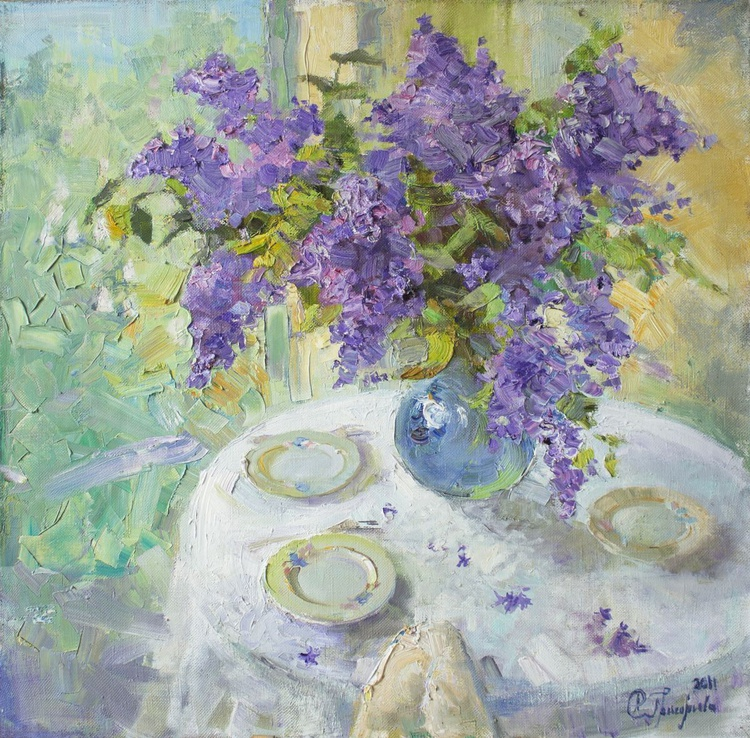Lilacs in a Vase - Image 0