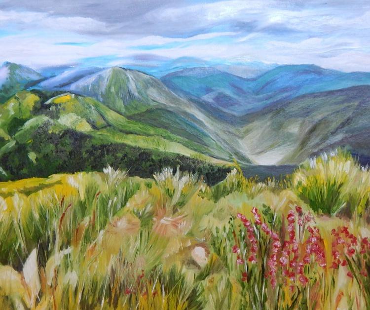 """Beautiful land""-original oil painting landscape wall decor wall art home art  ready to hang gift idea - Image 0"