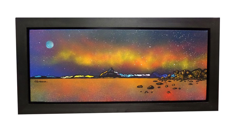 Milky Way Over The Cuillin From Elgol Beach & Loch Scavaig, Isle of Skye, Hebrides, Scotland - An original Scottish landscape painting - Image 0