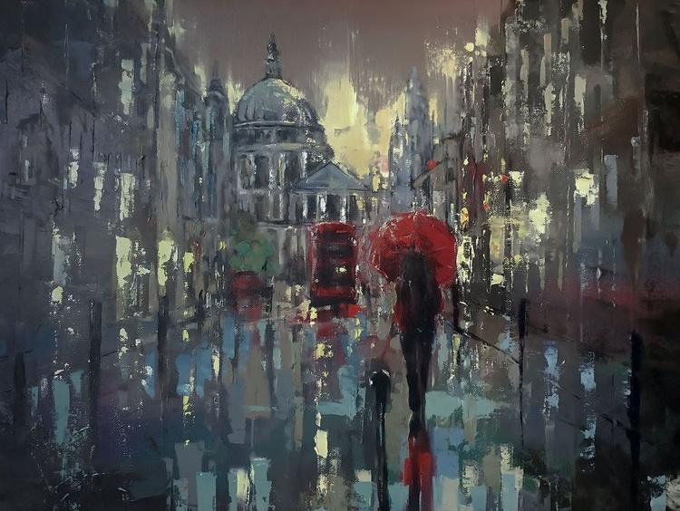 'Rainy Night in St.Paul's' - Image 0