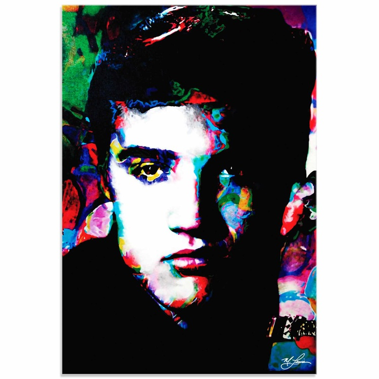 Mark Lewis 'Elvis Presley Electric Ambition' Limited Edition Pop Art Print on Acrylic - Image 0