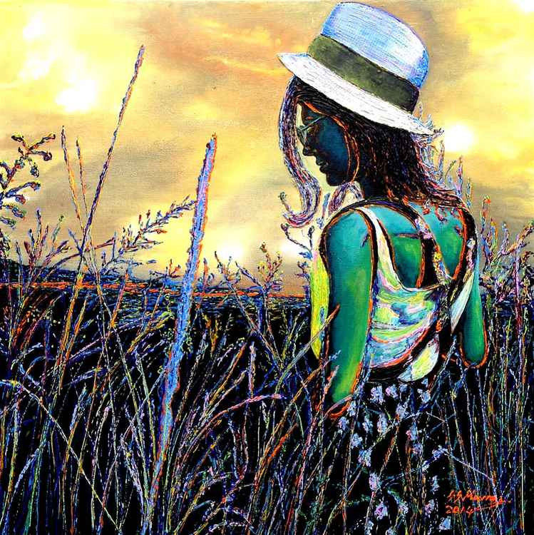 Girl in a Cornfield -