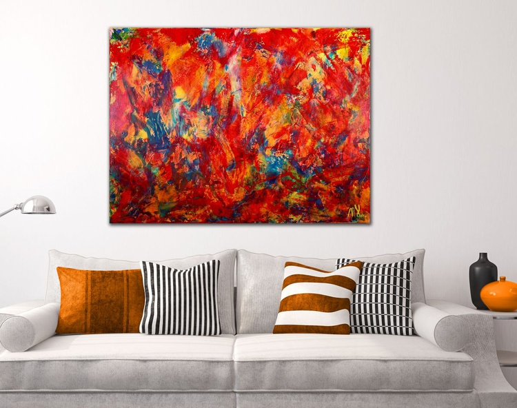Red Abstract - BOLD AND WITH A RED HOT STATEMENT! - Image 0