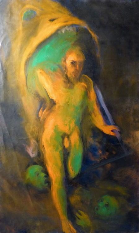 Jonas, oil on canvas 146x89 cm - Image 0