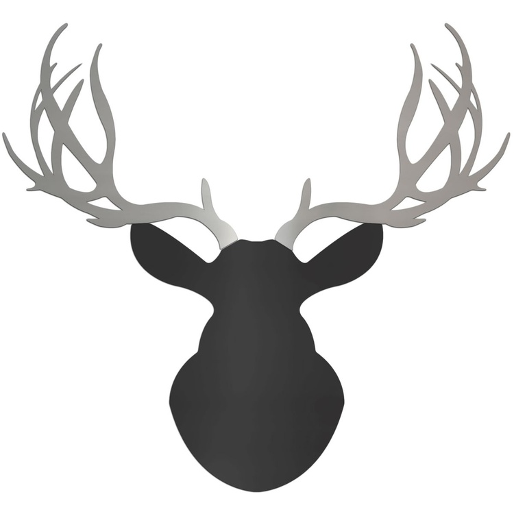 Urban Buck | Large Black & Silver Deer Cut-Out - Image 0