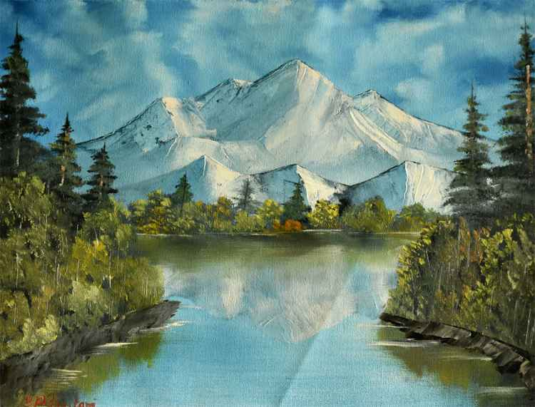 Snow mountain Reflection -