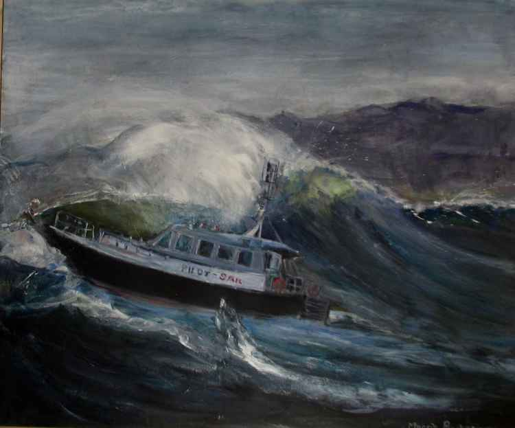 Rough seas -