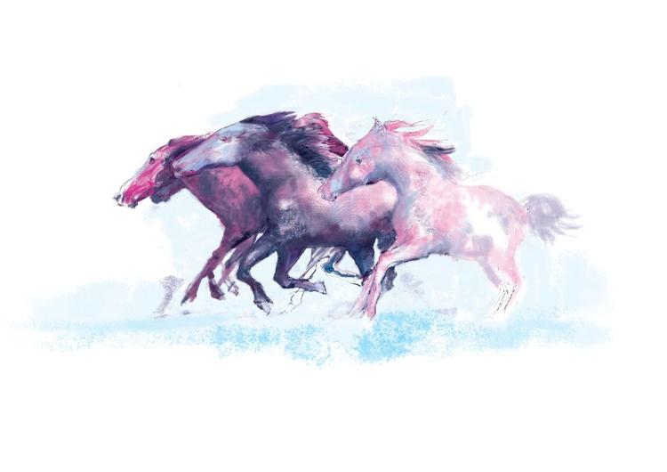 Mustangs (21st century drawing) - Image 0