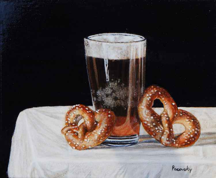 Sometimes just pretzels and beer -