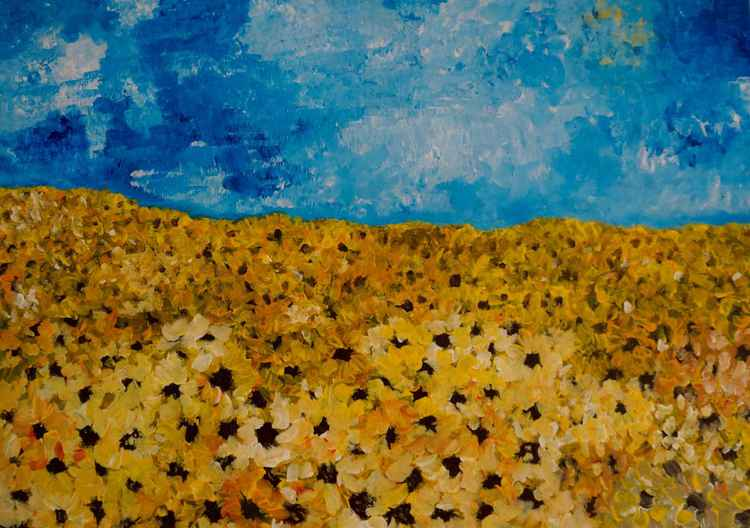 Sunflowers/Acrylic 2007 -