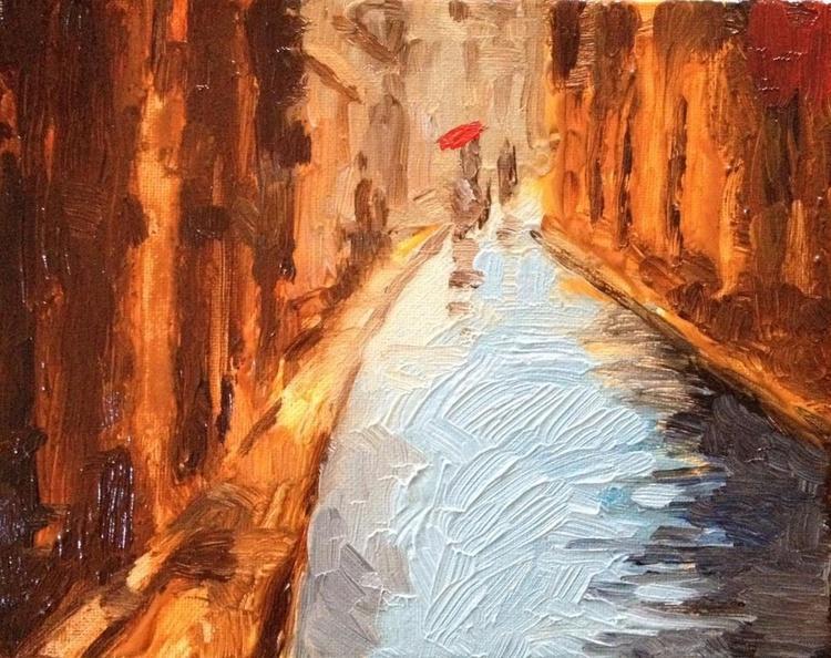 A Rainy Paris Street Scene - Image 0