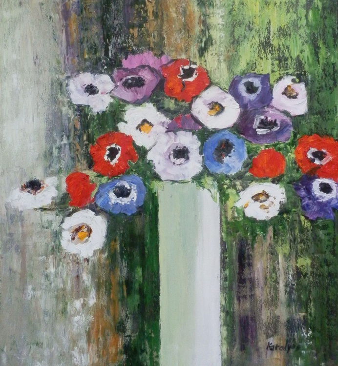 Still life with anemones - Image 0