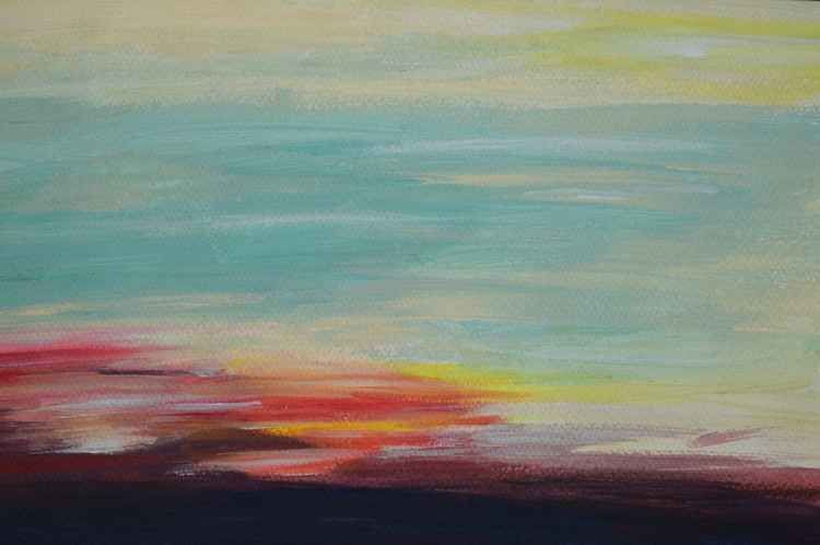 Abstract Sunset -