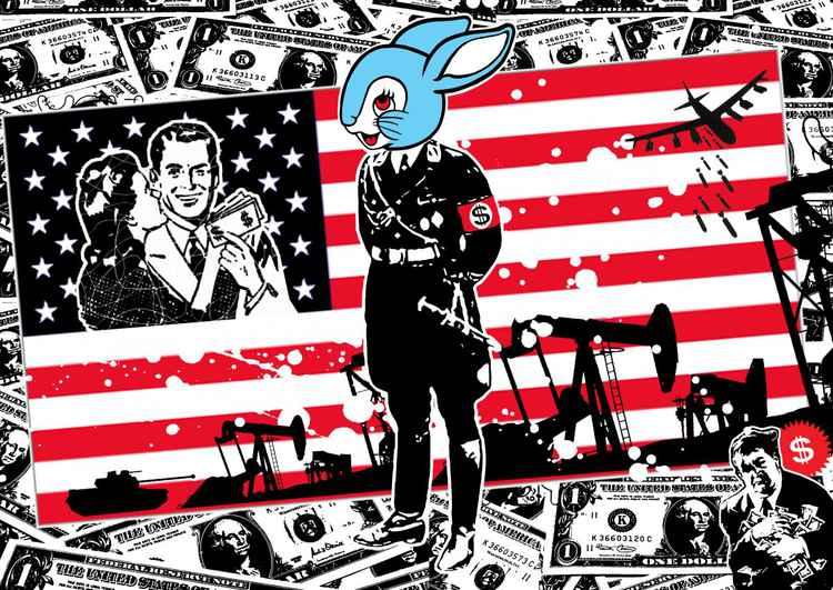 Gestapo bunny print -