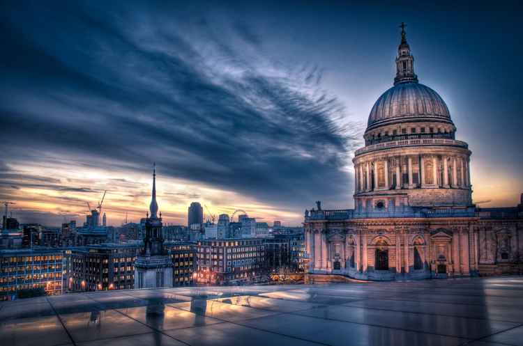 Sunset over St. Paul's