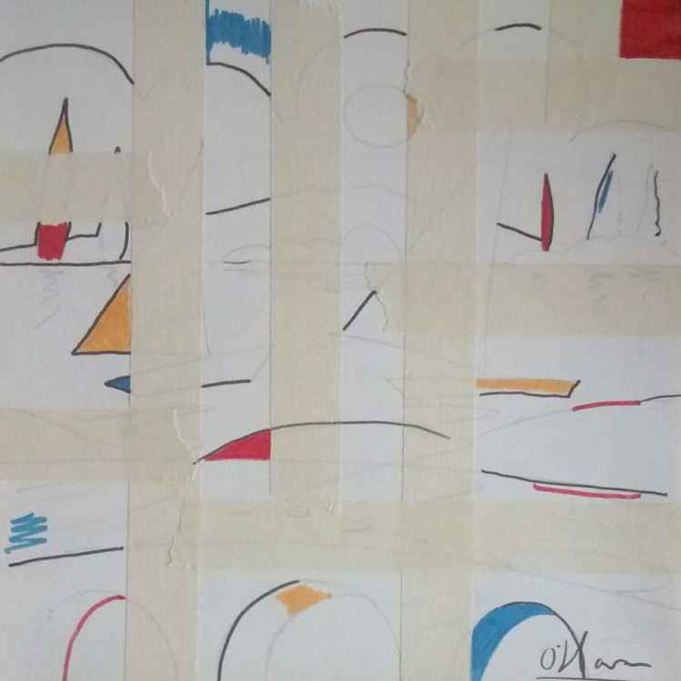 Mondrian's lake -