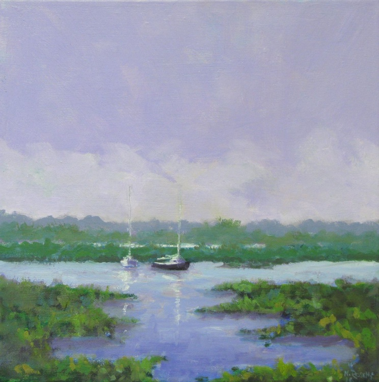 Tollesbury - Boats on the Saltings - Image 0