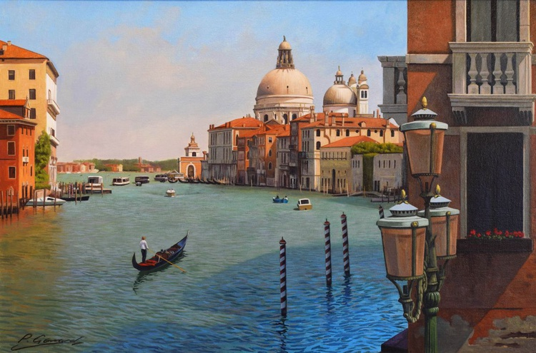 """""""GRAND CANAL"""" Photorealistic Venice oil painting - Image 0"""