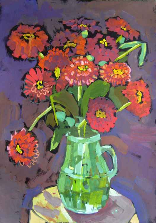 Red bouquet, 50x70 cm -