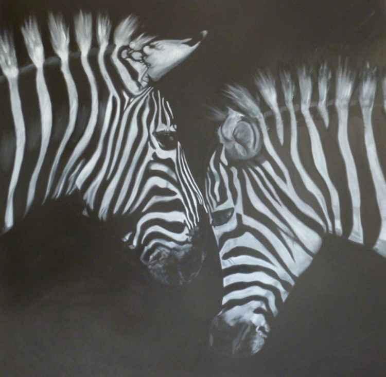 'Two Zebras'