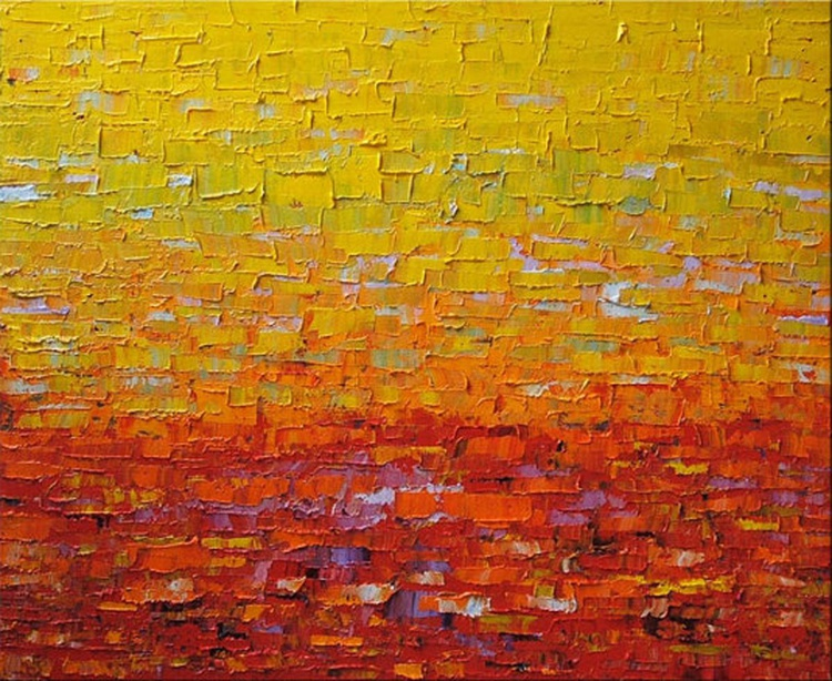 """48''x60"""" Oil On Canvas Palette Knife. Heavy Texture- Michel Campeau - Made to order - Image 0"""