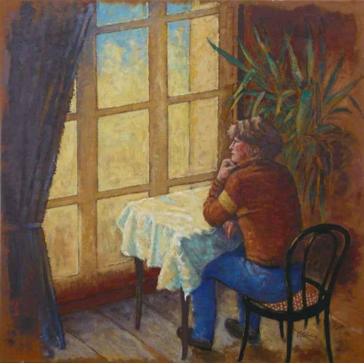 Femme a la fenêtre    (Cat N° 3435)