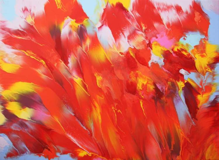 Summer Fantasy - Large Abstract Painting - Image 0