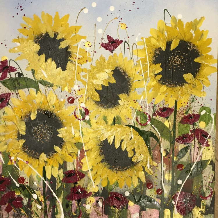 Sunflowers on a summers day - Image 0
