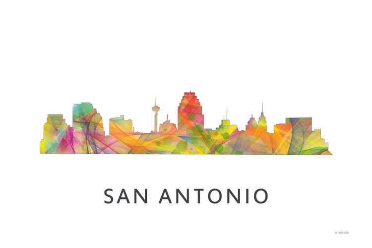 San Antonio Texas Skyline WB1