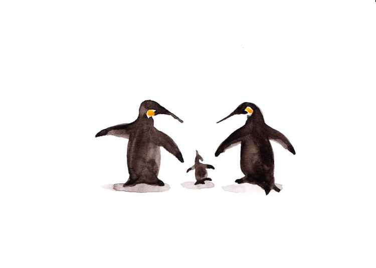 Two penguins and a chick 2115S