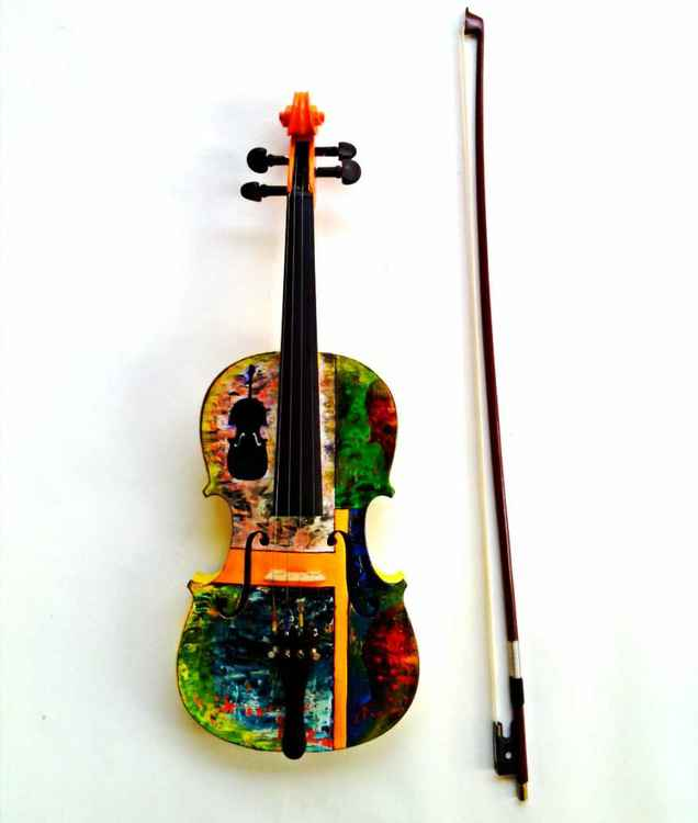 Art on professional violin -