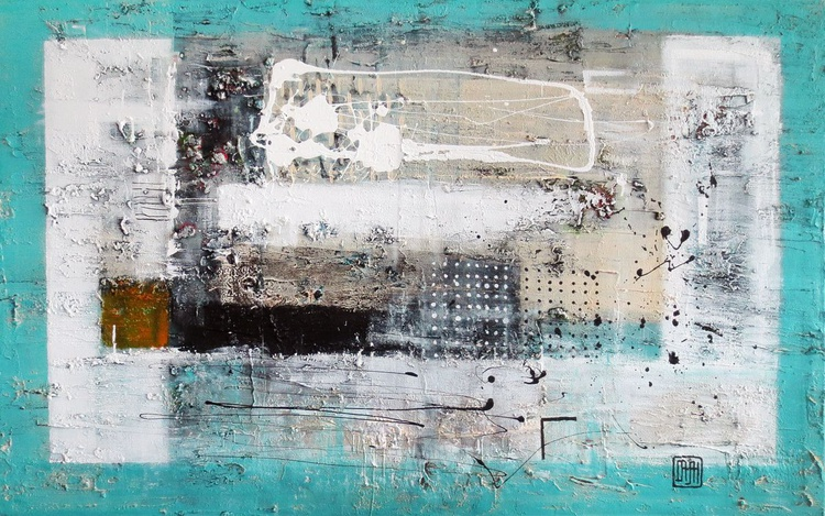 A73 ( Contemporary abstract minimalist Spiritul Landscape Acrylic on canvas Large wall art Painting ) - Image 0
