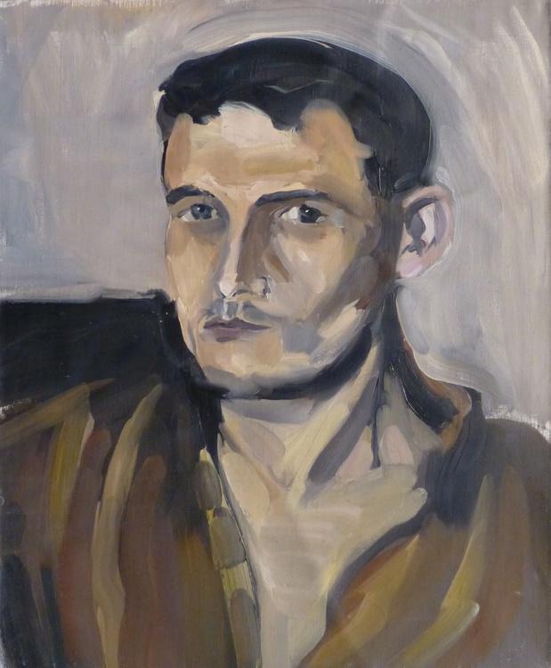 Portrait of Marc, oil on canvas, 46x38 cm - Image 0