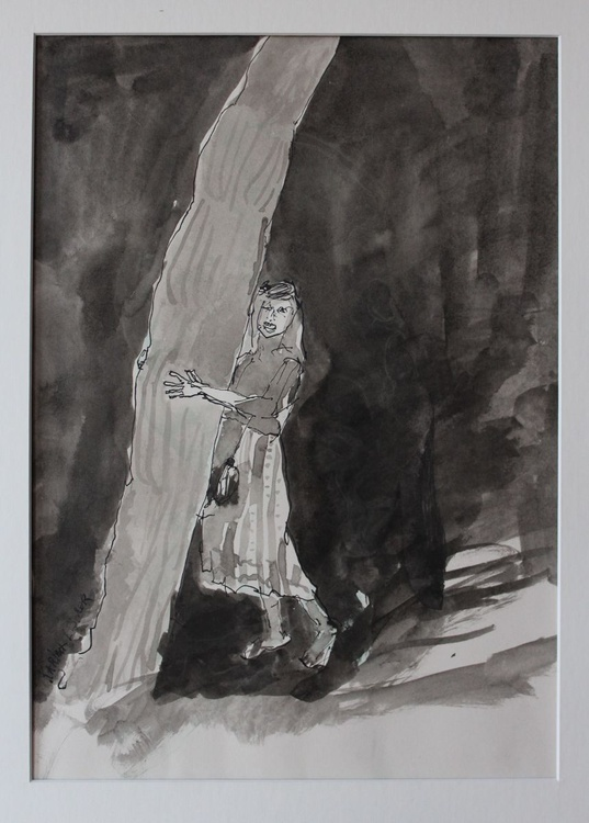 Girl Holding A Tree - Image 0