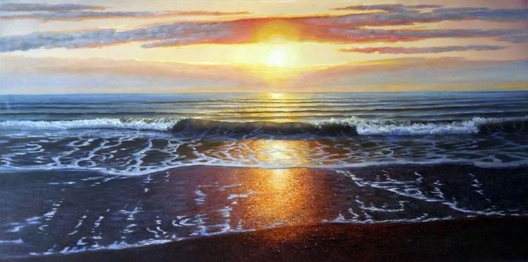 Evening Waves (panoramic) - Image 0