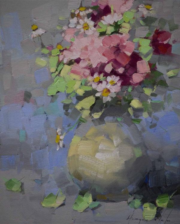 Vase of Field Flowers Handmade Original oil Painting - Image 0