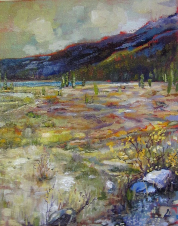 Rocky mountains in Banff Original painting - Image 0
