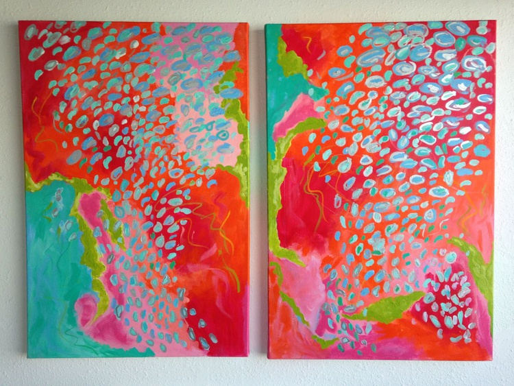 Diptych-  Her Laugh is Infectious - Image 0