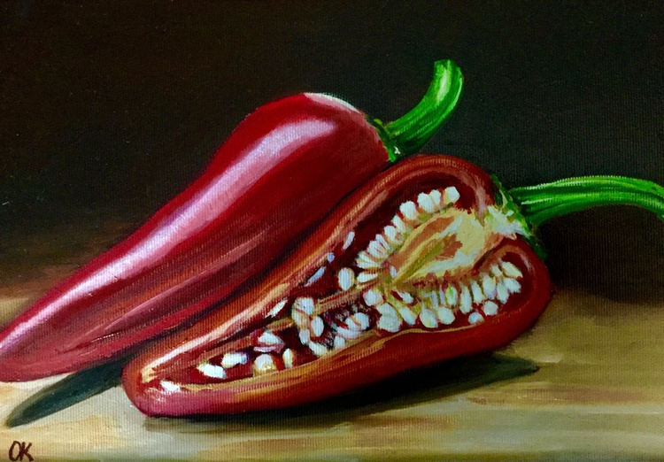 Red sweet pepper.  #perfect gift #classical still life - Image 0