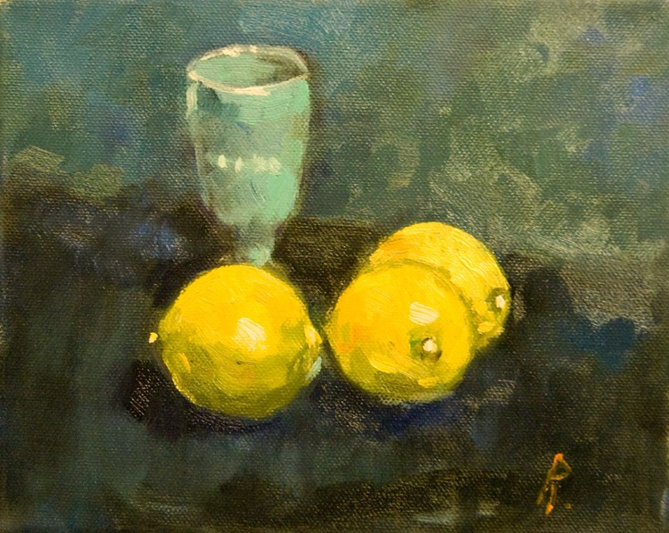 Three Lemons and Venetian Glass - Image 0