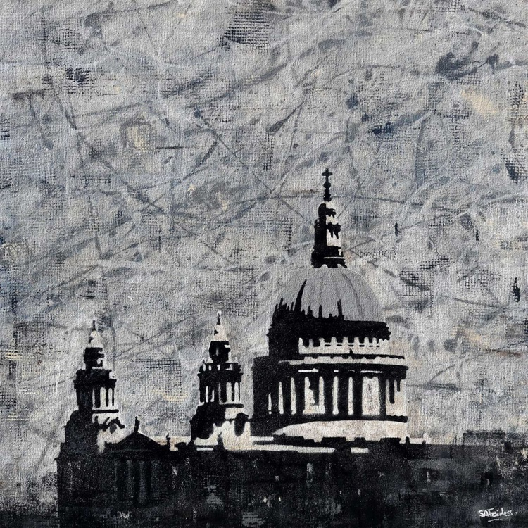 St Paul's over Abstract - Image 0